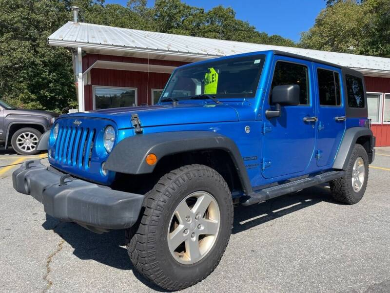 2016 Jeep Wrangler Unlimited for sale at RRR AUTO SALES, INC. in Fairhaven MA