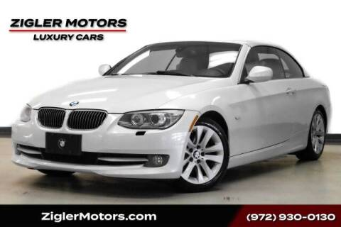 2012 BMW 3 Series for sale at Zigler Motors in Addison TX