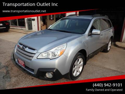 2013 Subaru Outback for sale at Transportation Outlet Inc in Eastlake OH
