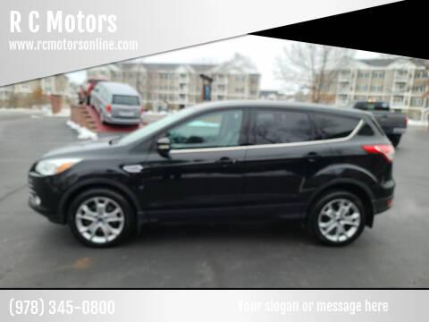 2013 Ford Escape for sale at R C Motors in Lunenburg MA