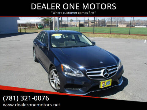 2014 Mercedes-Benz E-Class for sale at DEALER ONE MOTORS in Malden MA