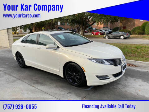2013 Lincoln MKZ for sale at Your Kar Company in Norfolk VA