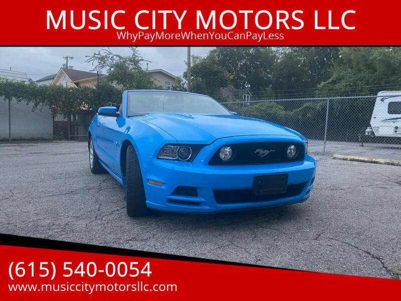 2013 Ford Mustang for sale at MUSIC CITY MOTORS LLC in Nashville TN
