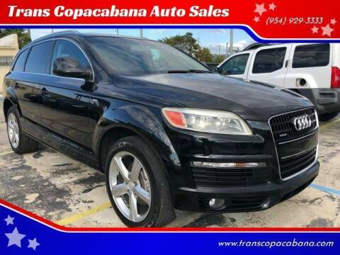 2008 Audi Q7 for sale at Trans Copacabana Auto Sales in Hollywood FL