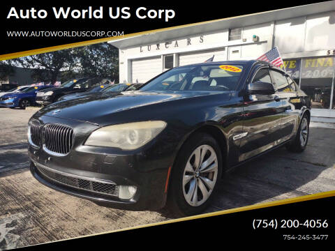 2012 BMW 7 Series for sale at Auto World US Corp in Plantation FL