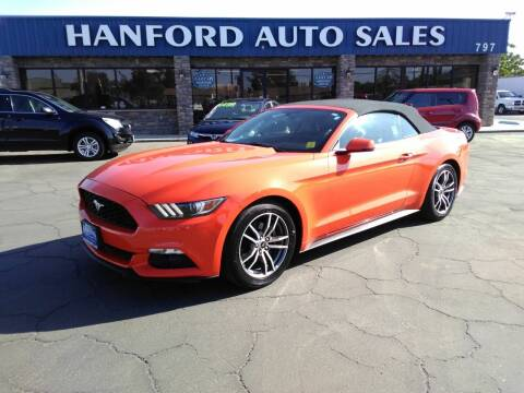 2016 Ford Mustang for sale at Hanford Auto Sales in Hanford CA