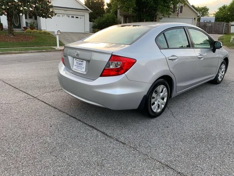 2012 Honda Civic for sale at TOLBERT AUTOMOTIVE, LLC in Harvest AL
