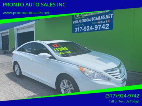 2012 Hyundai Sonata for sale at PRONTO AUTO SALES INC in Indianapolis IN