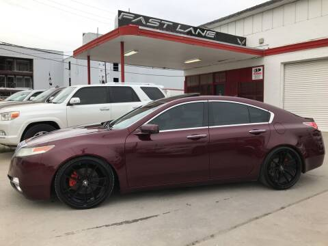 2010 Acura TL for sale at FAST LANE AUTO SALES in San Antonio TX
