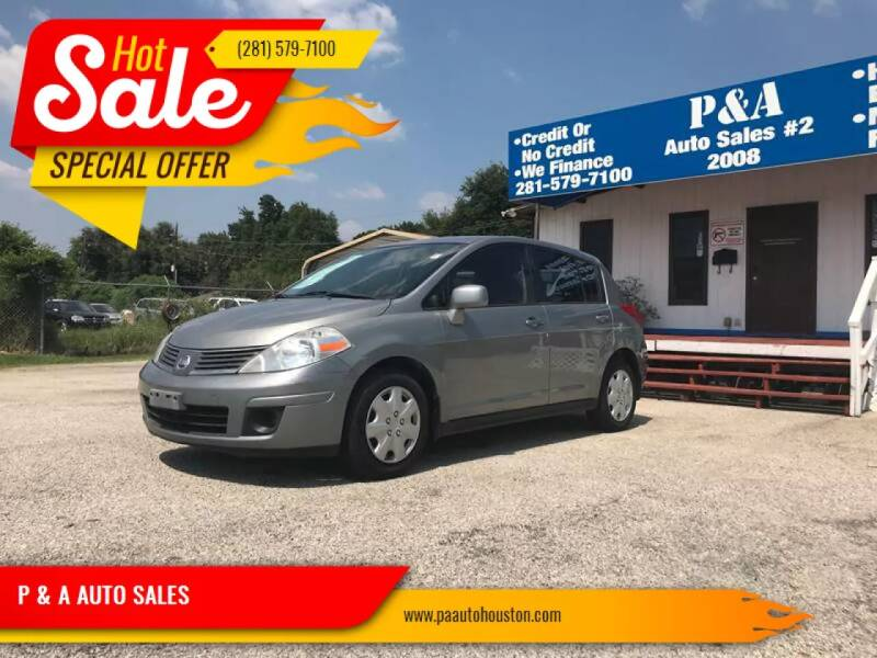 2008 Nissan Versa for sale at P & A AUTO SALES in Houston TX