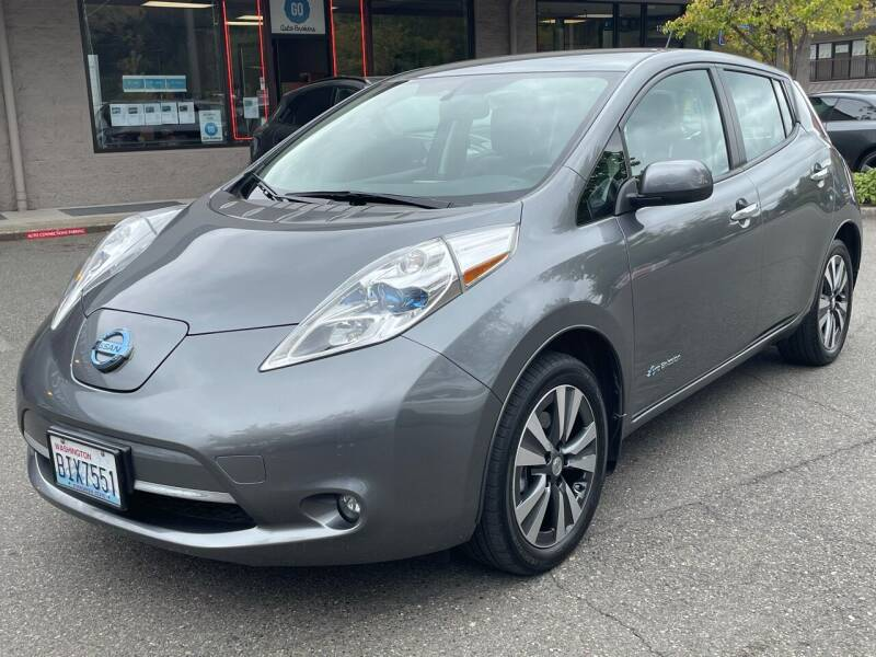 2015 Nissan LEAF for sale at GO AUTO BROKERS in Bellevue WA