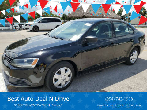 2013 Volkswagen Jetta for sale at Best Auto Deal N Drive in Hollywood FL