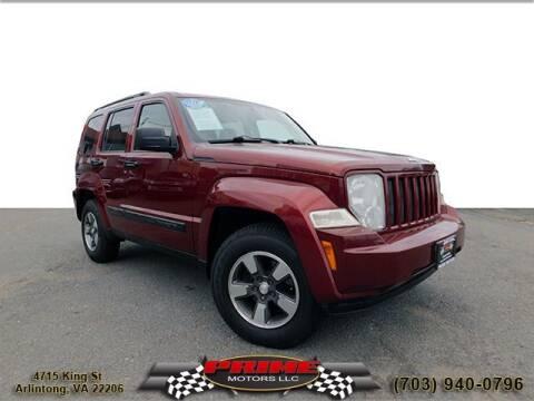 2008 Jeep Liberty for sale at PRIME MOTORS LLC in Arlington VA