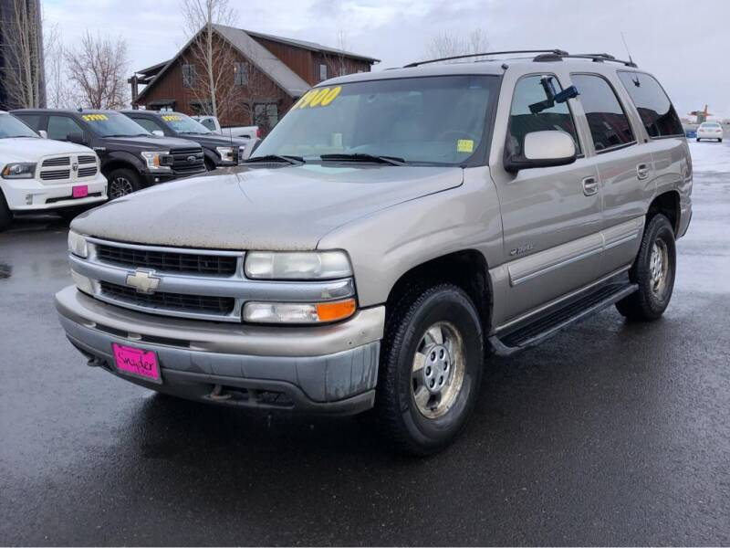 2001 Chevrolet Tahoe for sale at Snyder Motors Inc in Bozeman MT