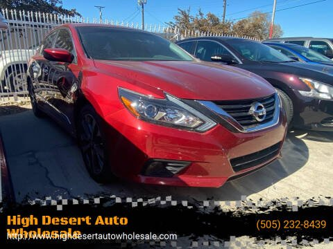 2017 Nissan Altima for sale at High Desert Auto Wholesale in Albuquerque NM