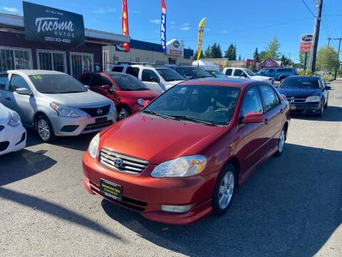 2004 Toyota Corolla for sale at Tacoma Autos LLC in Tacoma WA
