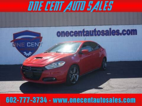 2016 Dodge Dart for sale at One Cent Auto Sales in Glendale AZ