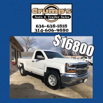 2017 Chevrolet Silverado 1500 for sale at CRUMP'S AUTO & TRAILER SALES in Crystal City MO
