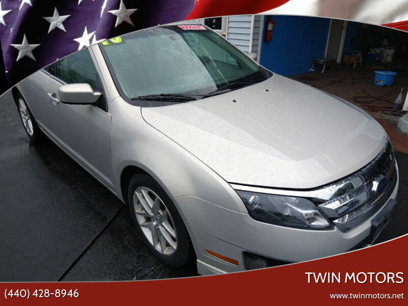 2010 Ford Fusion for sale at TWIN MOTORS in Madison OH