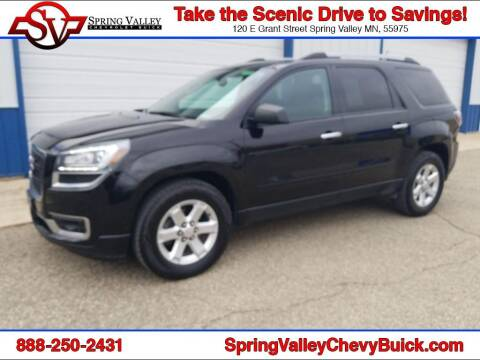 2016 GMC Acadia for sale at Spring Valley Chevrolet Buick in Spring Valley MN