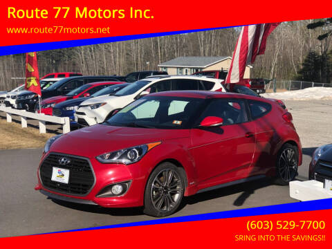 2017 Hyundai Veloster for sale at Route 77 Motors Inc. in Weare NH