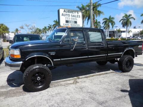 1997 Ford F-350 for sale at Aubrey's Auto Sales - Domestic in Delray Beach FL