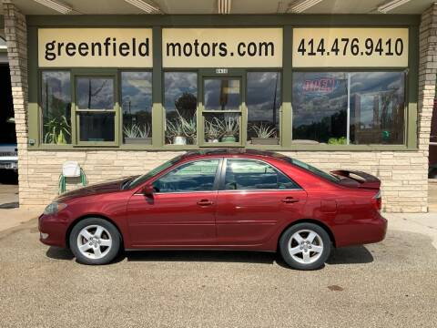 2005 Toyota Camry for sale at GREENFIELD MOTORS in Milwaukee WI