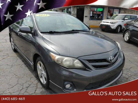 2012 Toyota Corolla for sale at Gallo's Auto Sales in North Bloomfield OH