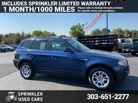 2004 BMW X3 for sale at Sprinkler Used Cars in Longmont CO