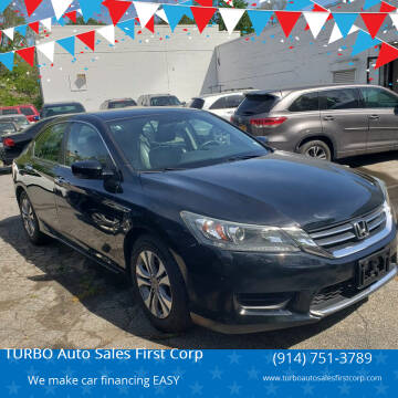 2015 Honda Accord for sale at TURBO Auto Sales First Corp in Yonkers NY