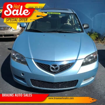 2007 Mazda MAZDA3 for sale at BRAUNS AUTO SALES in Pottstown PA