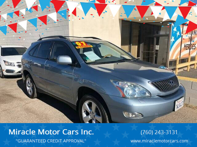 2007 Lexus RX 350 for sale at Miracle Motor Cars Inc. in Victorville CA