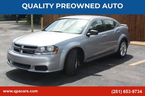 2014 Dodge Avenger for sale at QUALITY PREOWNED AUTO in Houston TX