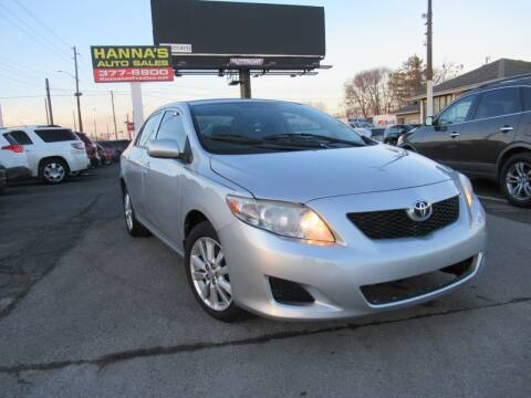 2009 Toyota Corolla for sale at Hanna's Auto Sales in Indianapolis IN
