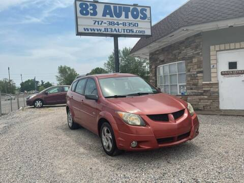 2004 Pontiac Vibe for sale at 83 Autos in York PA