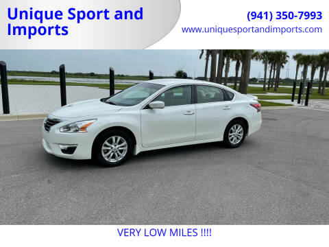 2015 Nissan Altima for sale at Unique Sport and Imports in Sarasota FL