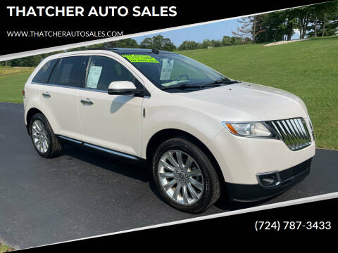 2013 Lincoln MKX for sale at THATCHER AUTO SALES in Export PA