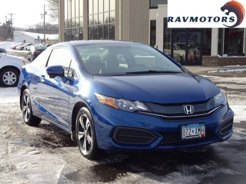 2015 Honda Civic for sale at RAVMOTORS 2 in Crystal MN