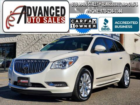 2013 Buick Enclave for sale at Advanced Auto Sales in Tewksbury MA