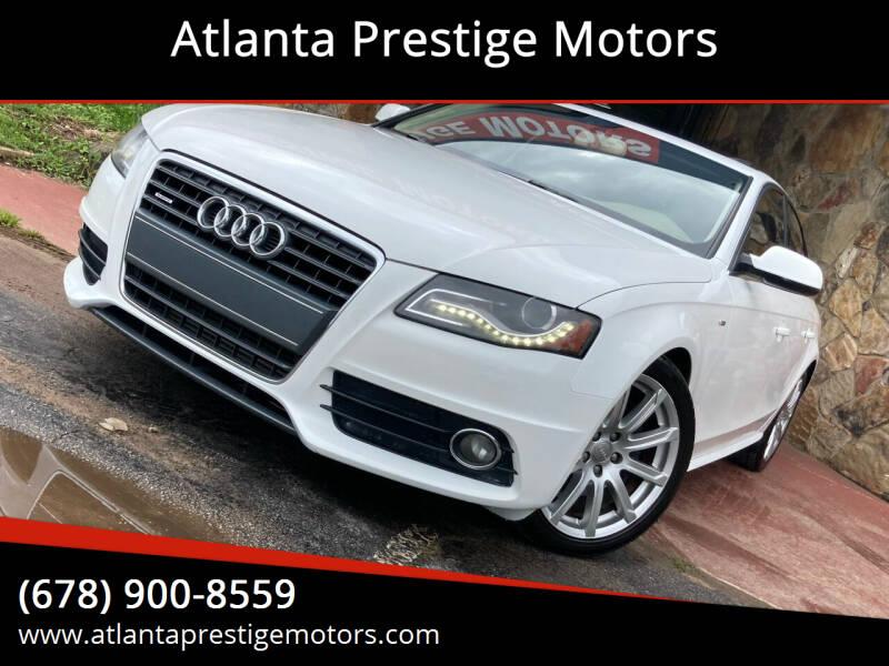 2012 Audi A4 for sale at Atlanta Prestige Motors in Decatur GA