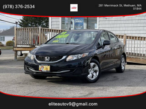 2013 Honda Civic for sale at ELITE AUTO SALES, INC in Methuen MA