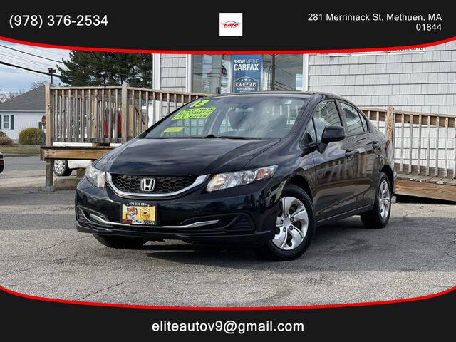 2013 Honda Civic for sale at ELITE AUTO SALES, INC in Methuen MA