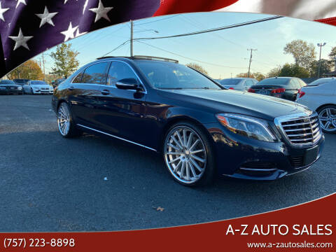 2016 Mercedes-Benz S-Class for sale at A-Z Auto Sales in Newport News VA