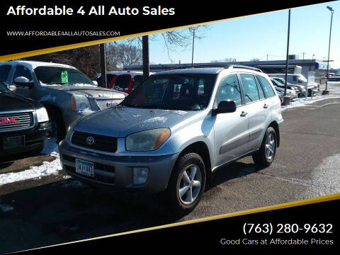 2002 Toyota RAV4 for sale at Affordable 4 All Auto Sales in Elk River MN