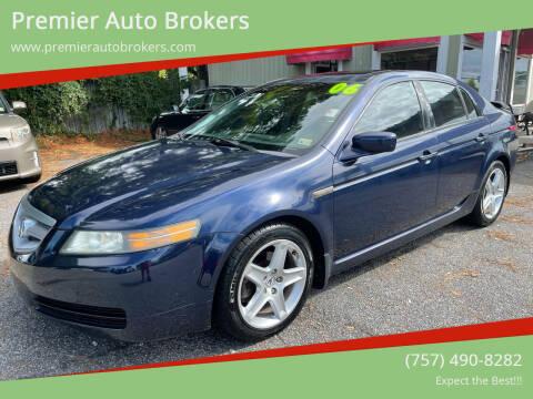2006 Acura TL for sale at Premier Auto Brokers in Virginia Beach VA