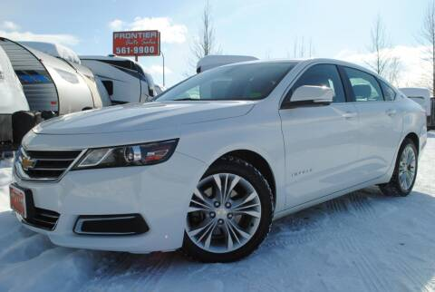2015 Chevrolet Impala for sale at Frontier Auto & RV Sales in Anchorage AK