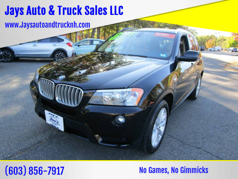 2013 BMW X3 for sale at Jays Auto & Truck Sales LLC in Loudon NH