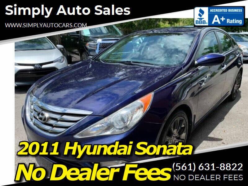 2011 Hyundai Sonata for sale at Simply Auto Sales in Palm Beach Gardens FL