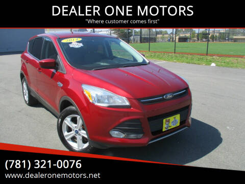 2014 Ford Escape for sale at DEALER ONE MOTORS in Malden MA