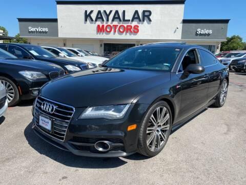 2013 Audi A7 for sale at KAYALAR MOTORS in Houston TX